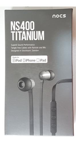 fone de ouvido nocs ns400 titanium - novo lacrado