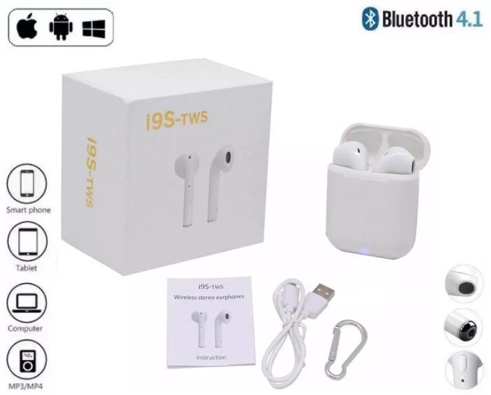 0d652311190 Fone De Ouvido Par AirPods I9s Tws Iphones 5 Ao X + Android - R$ 74 ...