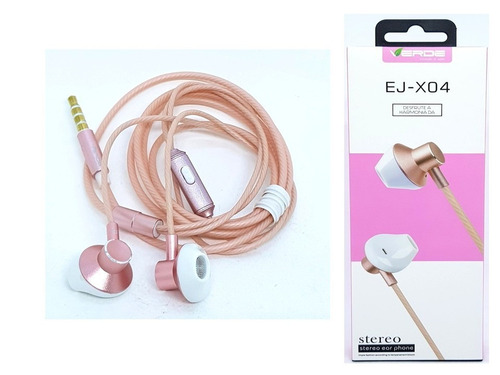 fone de ouvido para celular com extra bass rose ej-x04