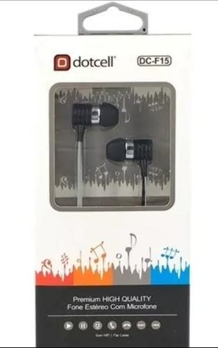 fone de ouvido para celular (musica e chamada) dotcell f15