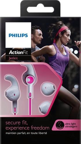 fone de ouvido philips esporte shq1300pk rosa com trava