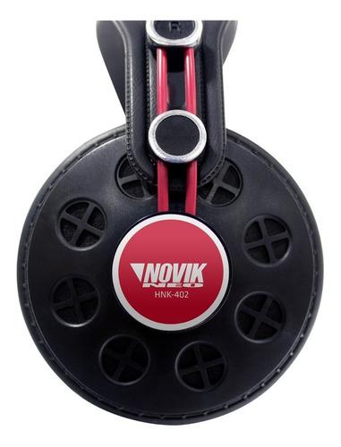 fone de ouvido profissional studio dj youtuber novik hnk402