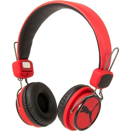 fone de ouvido puma the league over ear headphone vermelho