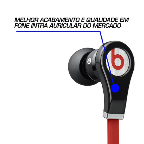 fone de ouvido red 7 monster beats by dr dre in ear tour