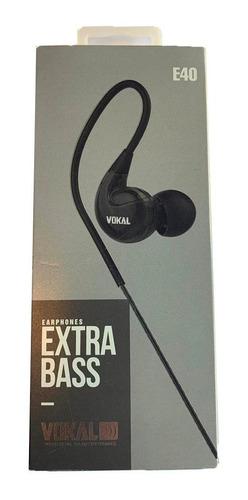 fone de ouvido retorno vokal e40 preto monitor in ear