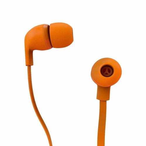 fone de ouvido rock in rio color com cabo flat laranja