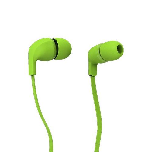 fone de ouvido rock in rio color com cabo flat verde