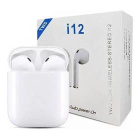 Fone De Ouvido Sem Fio I12 Tws Branco Wireless