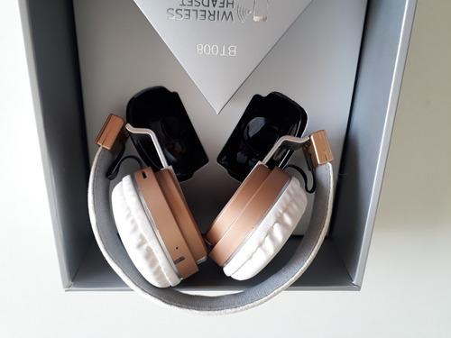 fone de ouvido s/fio dobrável bluetooth wireless headset bt