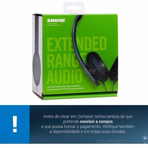 fone de ouvido shure original headphone dj estudio srh144