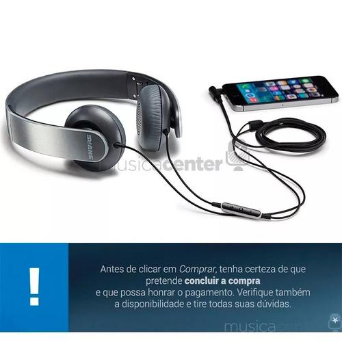 fone de ouvido shure original iphone ipad ipod srh145 m+