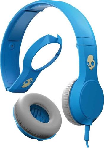 fone de ouvido skullcandy cassette azul