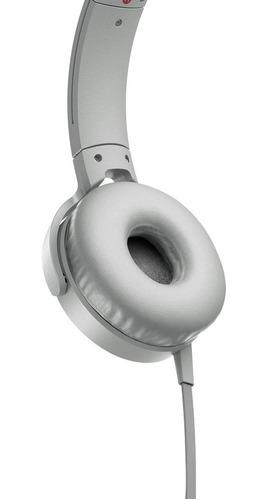 fone de ouvido sony com microfone bass mdr xb550 branco