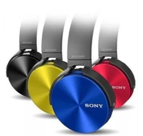 fone de ouvido sony mdr xb450ap extra bass preto/branco