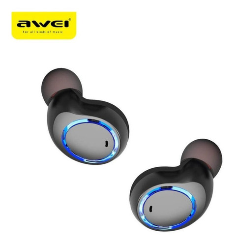 fone de ouvido sport bluetooth intra auricular awei tws t3