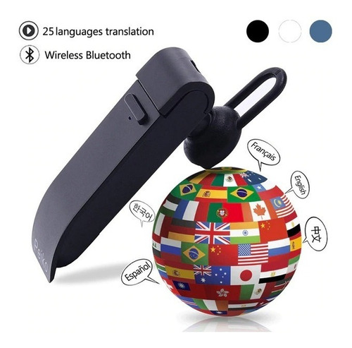 fone de ouvido tradutor 23 línguas marca peiko + brinde