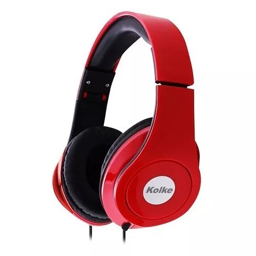 fone de ouvido vermelho kolke ka-103
