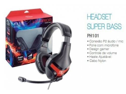 fone de ouvido warrior headset gamer  ph101- multilaser