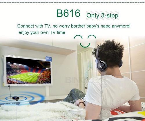 fone de ouvido wireless para tv/pc/fm