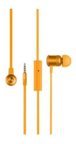 fone earphone hands free stereo p2 ph190 laranja multilaser