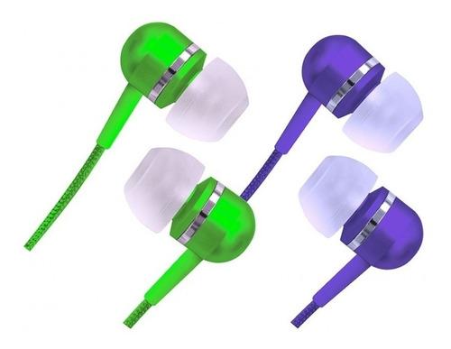 fone estéreo earphone isolamento acústico vermelha cvem79