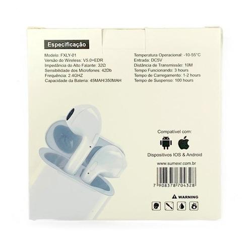fone favix sem fio fxly-01 earman sem fio stereo i7 i8 i10
