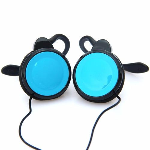 fone gancho alta qualidade preto com azul - frete grátis