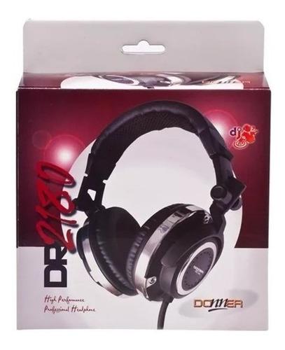 fone headphone profissional dj donner dr2180 com bag cabo expiral promoção