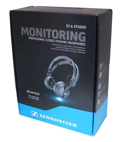fone headphone sennheiser hd25 plus original cabo aspiral