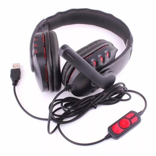 fone headset gamer áudio 7.1 usb jogos online microfone ps3
