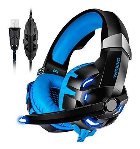 fone headset usb som 7.1 pc jogos gamer led onikuma k2