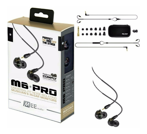 fone in ear mee audio m6 pro segunda geração original transparente ou preto
