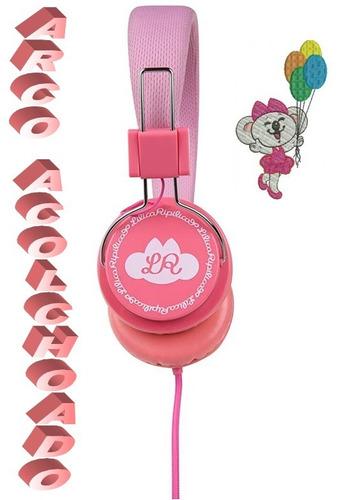 fone lilica ripilica rosa casual plug conector p2 cabo 1,5m