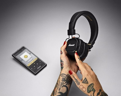 fone marshall major ii 2 bluetooth black/preto