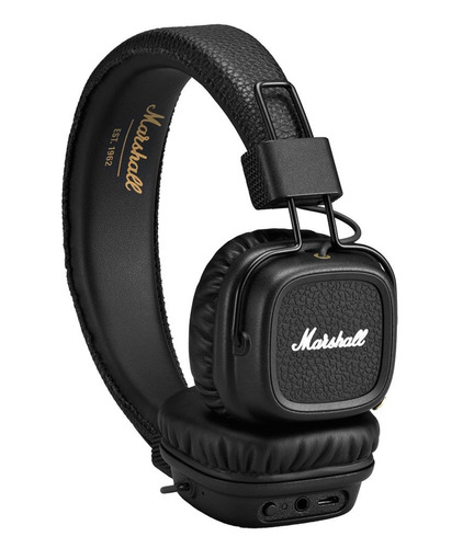 fone marshall major ii 2 bluetooth marrom/preto - o + barato