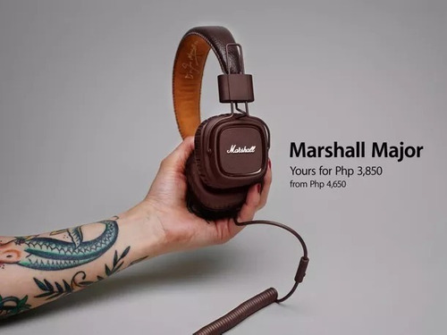 fone marshall major pitch marron- original