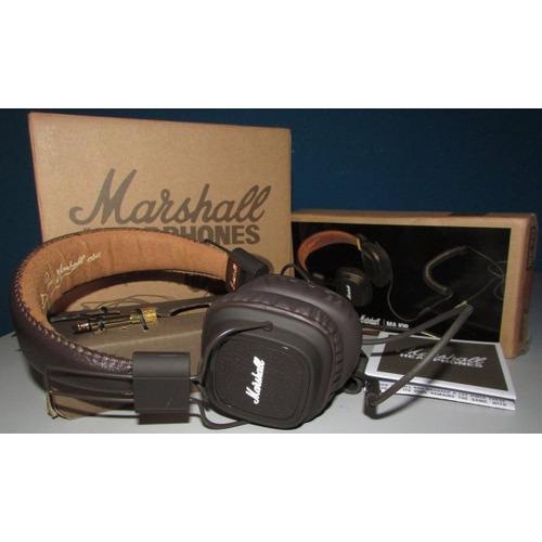 fone marshall major preto c/ microfone profissional e dj