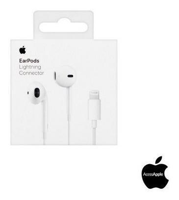 fone ouvido apple earpods  lightning original lacrado iphone