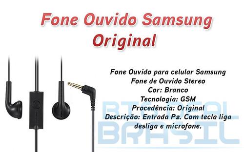 fone ouvido bi-auricular original samsung galaxy y s2 s3 s4