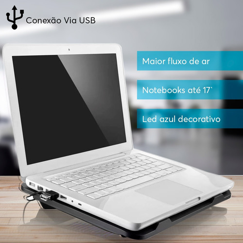 fone ouvido bluetooth preto + base gamer notebook led