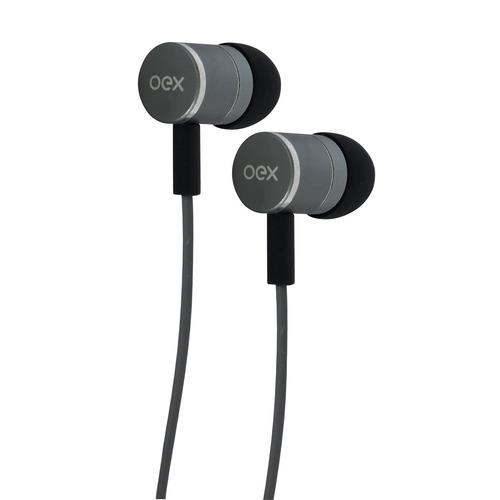 fone ouvido fleet intra auricular cinza fn404 microfone oex