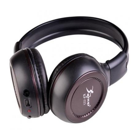 fone ouvido head phone sem fio p2 entrada cartão sd mp3 fm