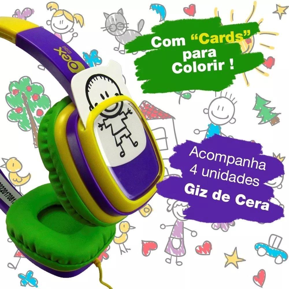 Fone Ouvido Headphone Desenho Infantil Crianca R 120 00 Em