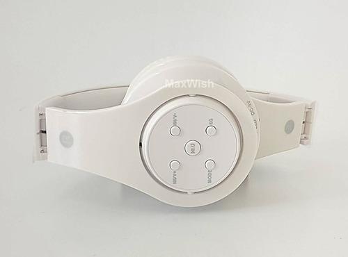 fone ouvido headphone sem fio bluetooth micro sd fm p2 b-06