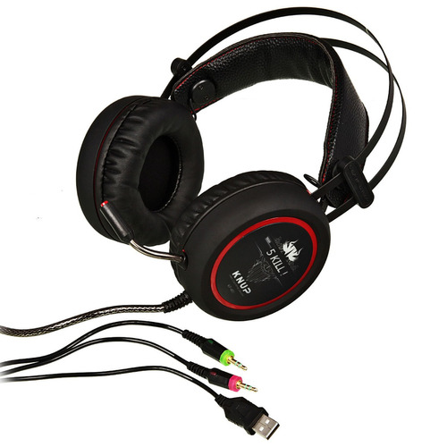 fone ouvido headset gamer 7.1 knup kp-400 p2 usb led