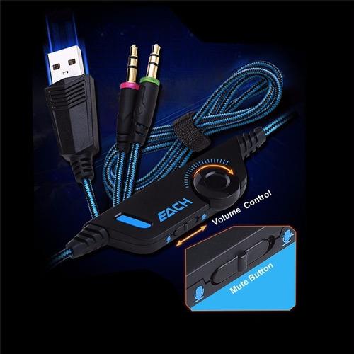 fone ouvido headset gamer usb microfone kotion g2000 para pc