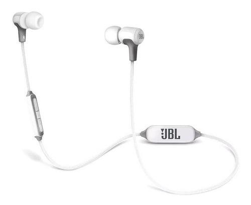 fone ouvido jbl e25 e25bt bluetooth branco + case carregador