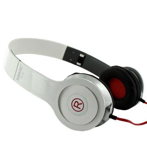 fone ouvido + microfone stéreo headphone dobrável a13 branco