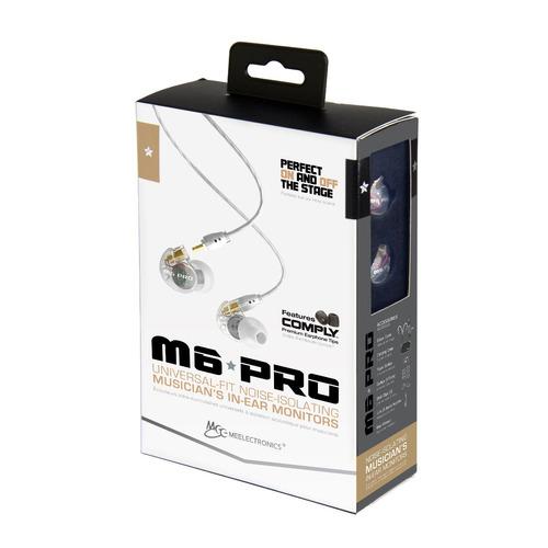 fone ponto monitor retorno de ouvido m6pro mee audio branco