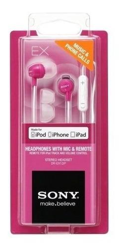 fone sony dr-ex12ip original iphone, ipad lacrado - nfe